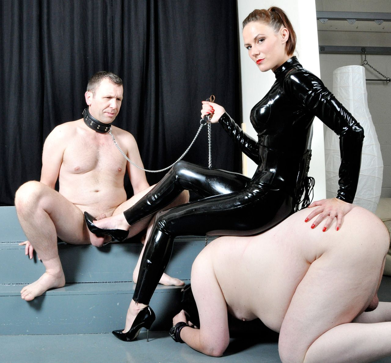 Latex bondage domination