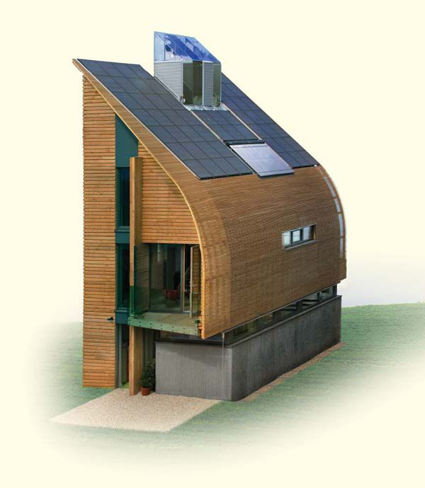 Uk First Net-Zero Carbon Self-Built Home - Stepping Stone To