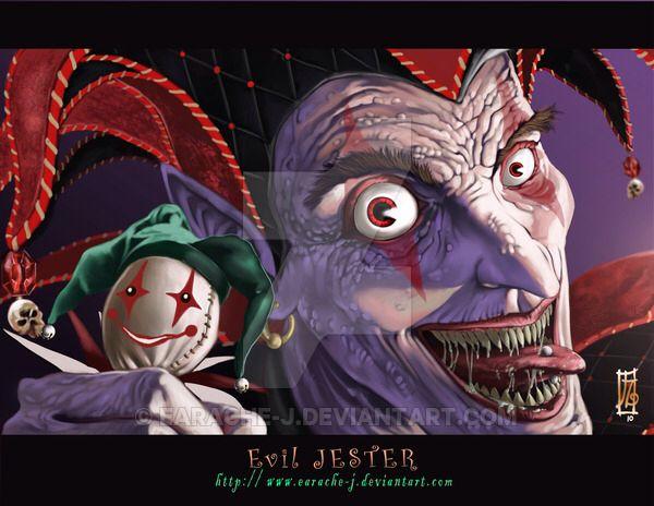 evil jester by earache-J on @DeviantArt