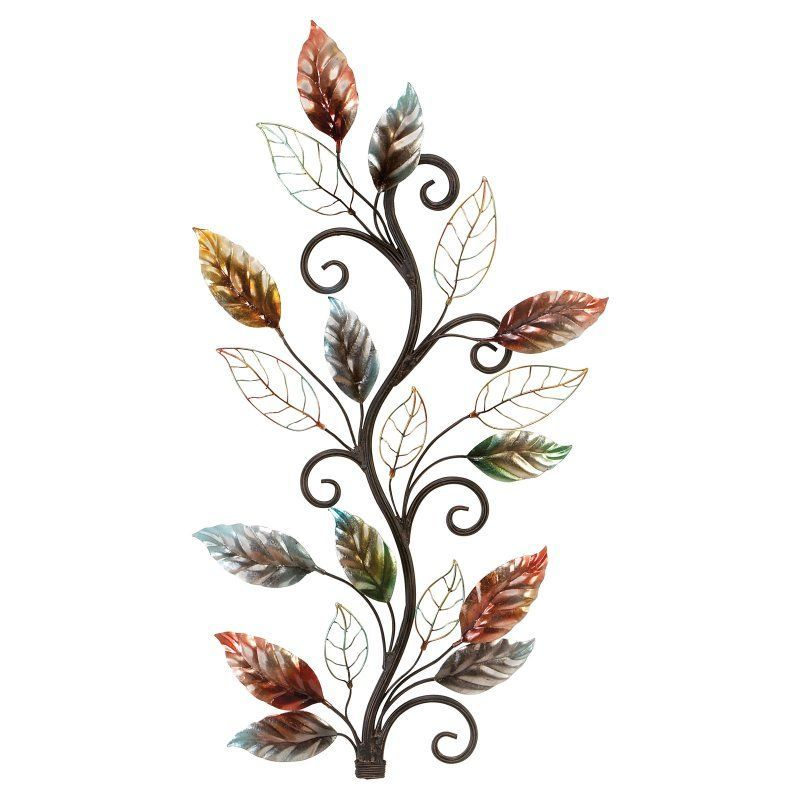 UMA Enterprises Metal Leaf Wall Sculpture   13412