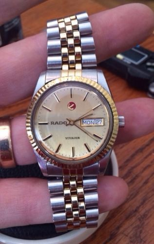 Men S Rado Voyager Two Tone Watch In Great Condition Two Tone Watch Watches Rado