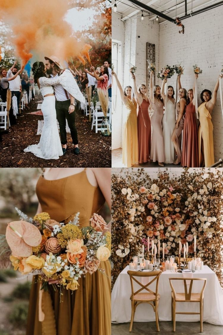 35 Sunset Dusty Orange Wedding Color Ideas For Fall 2020 Orange Wedding Colors Sunset Wedding Colors Orange Bridesmaid Dresses [ 1125 x 750 Pixel ]