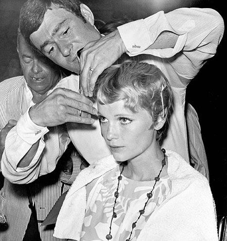 Remembering Vidal Sassoon Styling Mia Farrows Hair For Rosemarys