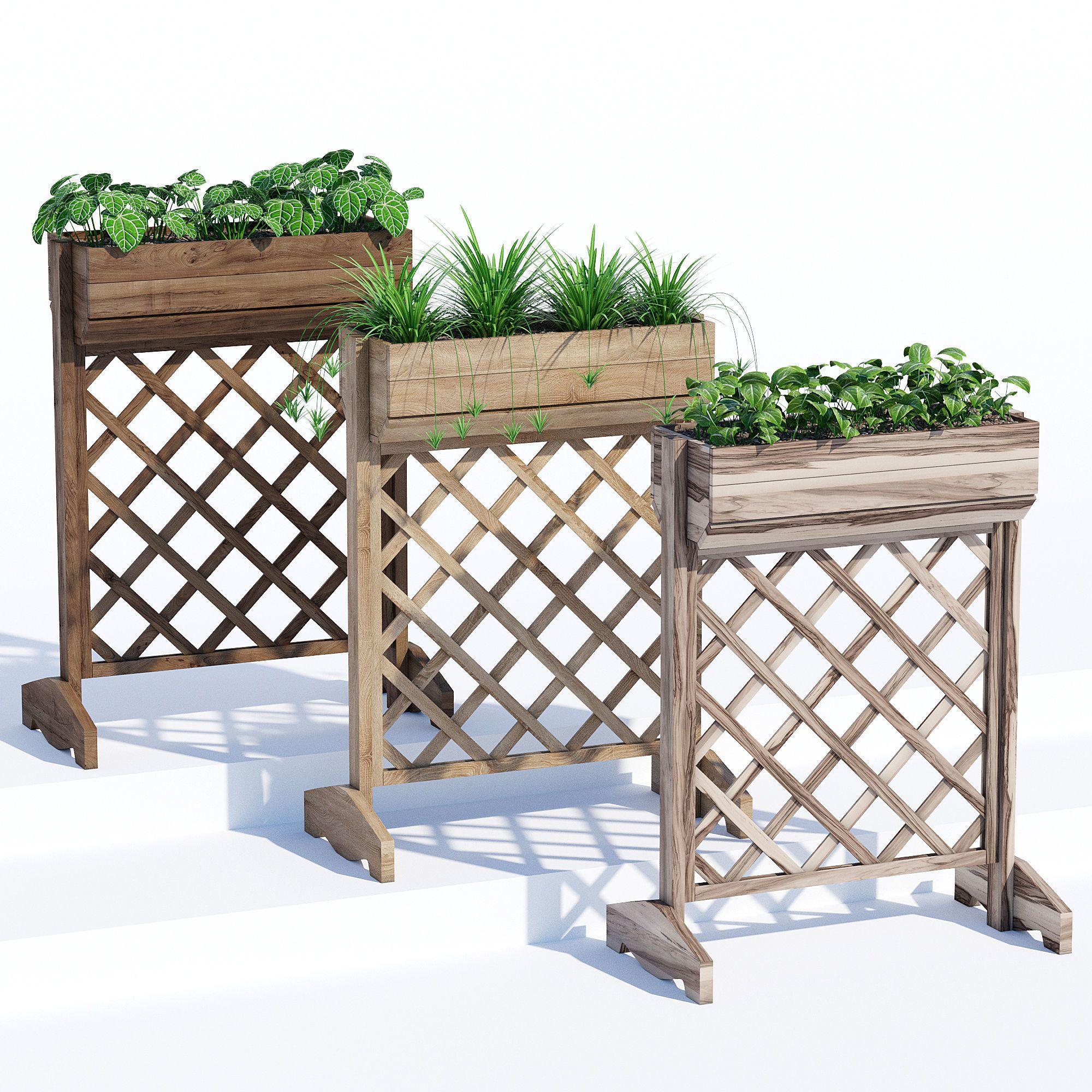 raised planter box 3d model max obj fbx mtl mat 1   cgtrader