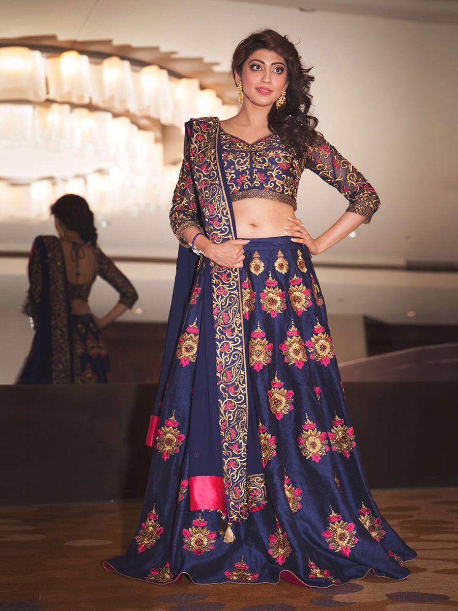 8696d6c0d7 New Latest Designer Blue Floral Embroidered Work Lehenga Choli SKU: ER10623  Price₹1,699