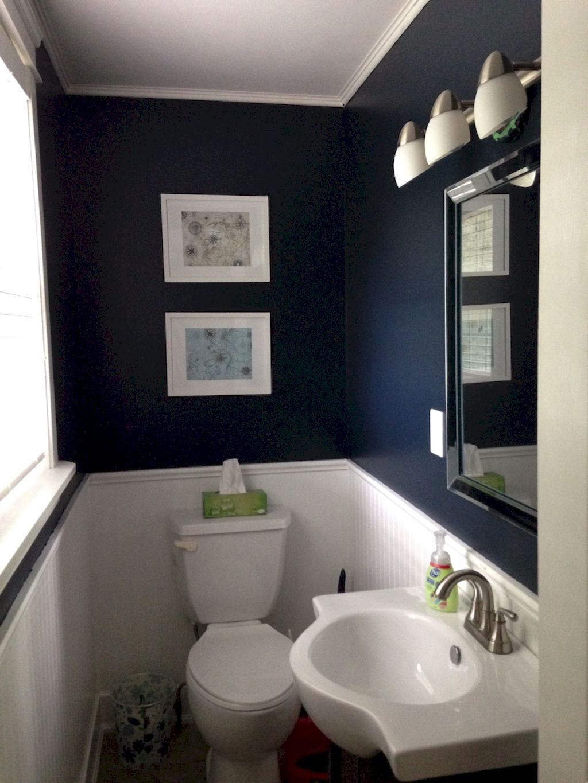Toilet Met Behang In 2020 Powder Bathroom Ideas Powder Room