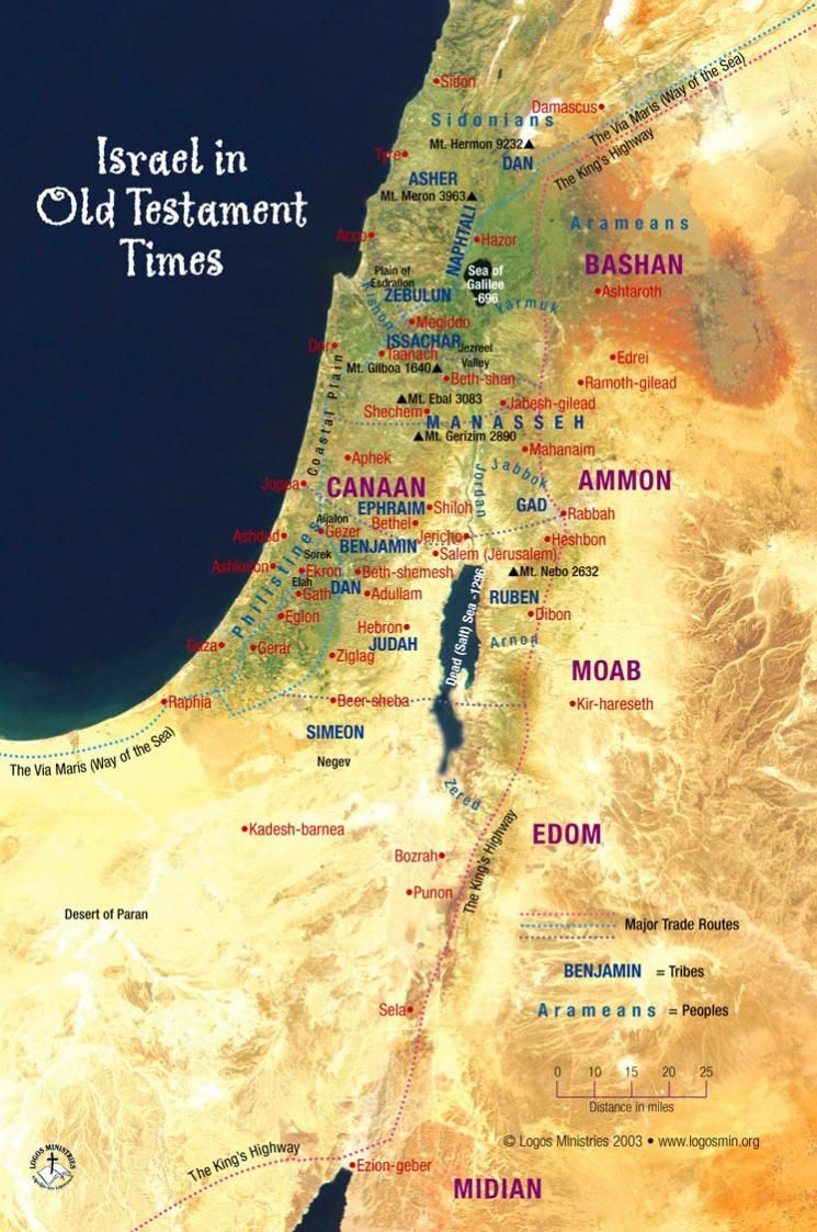 Israel in Old Testament times | Bible mapping, Bible knowledge ...