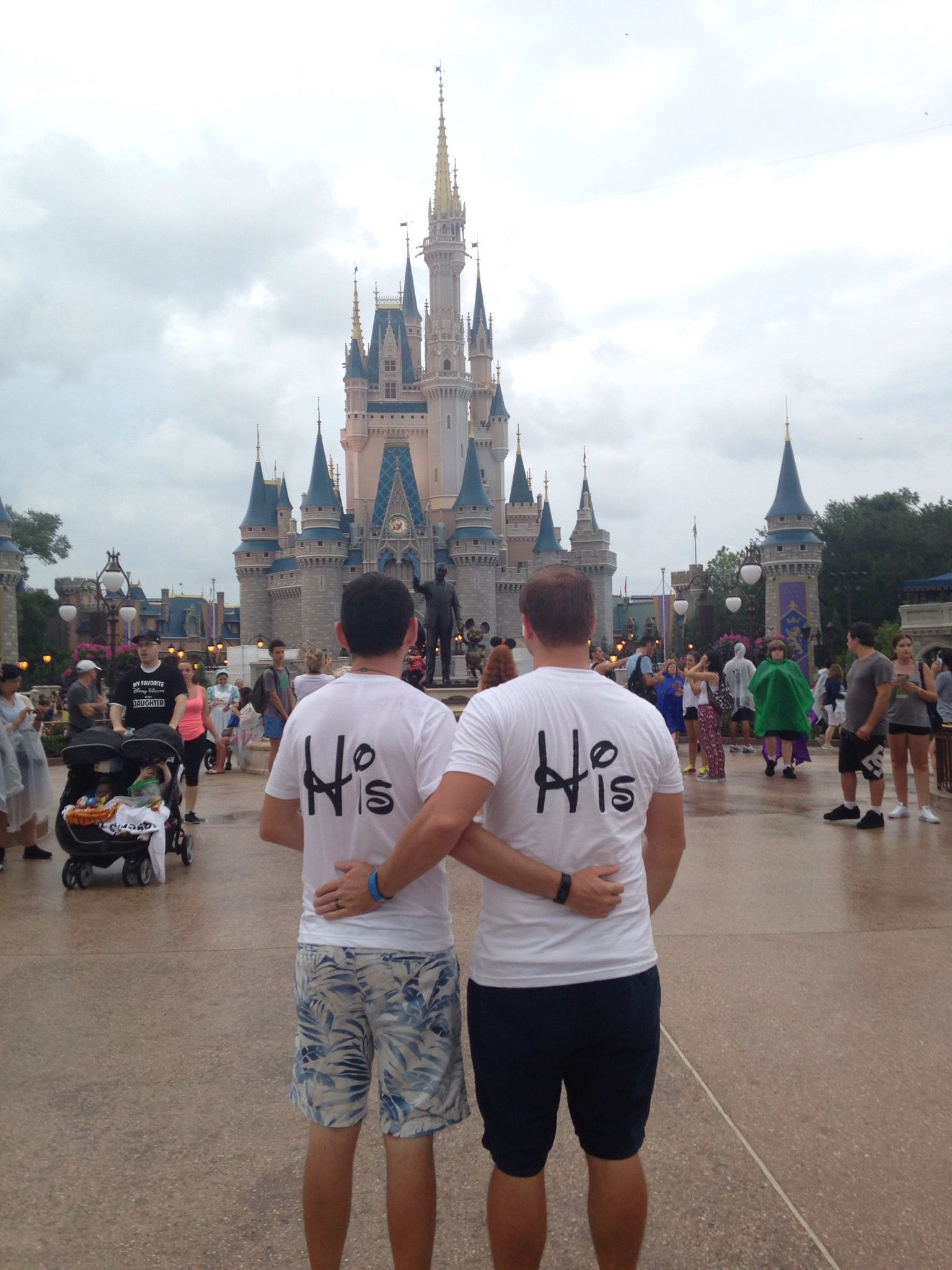 ffdb8df97 LGBT Gay His Matching Couple Shirts Mickey Mouse Cute Kissing, Married With  Mickey