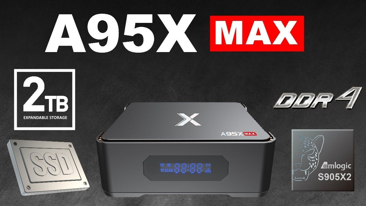 A95X Max TV Box Monster Expandable Storage 2TB Max Android 8 1