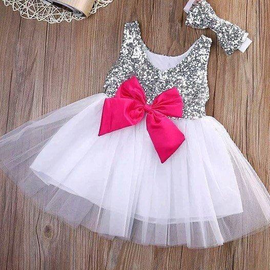 Baby Paillettenkleid Geburtstagsparty | Pailletten kleid ...