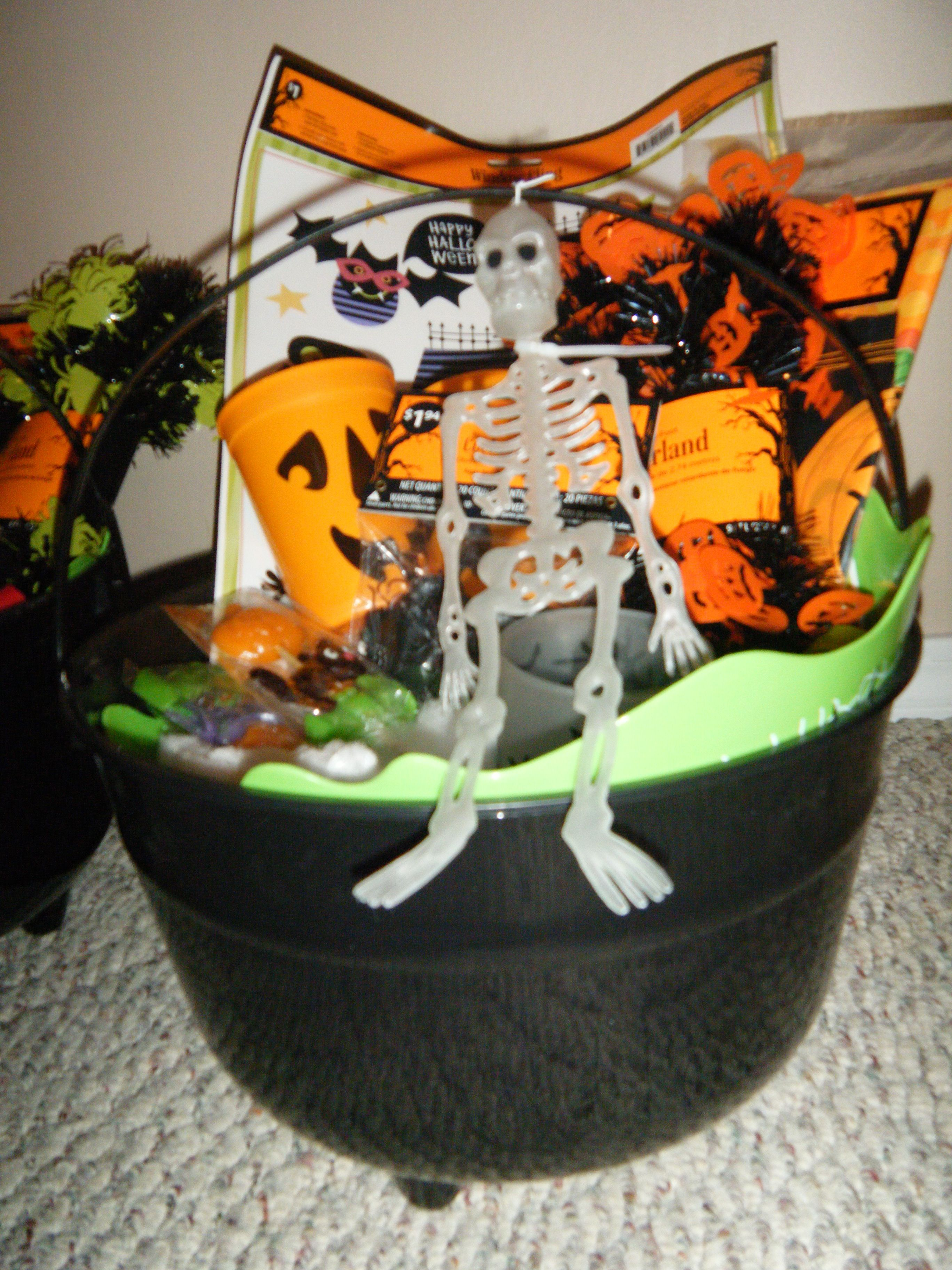 Not for baby shower - Halloween gift basket for church charity ...