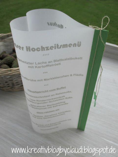 Kreativ Blog by Claudi: Hochzeit in Grasgrün