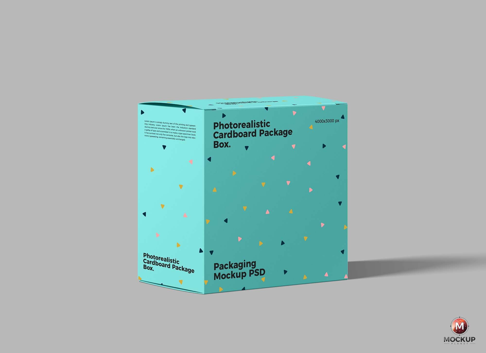 Download Free Packaging Box Presentation Mockup Psd Box Packaging Logo Design Typography Packaging