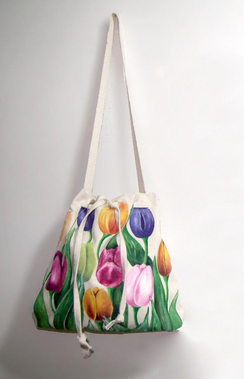 bolsos de tela pintados a mano buscar con google
