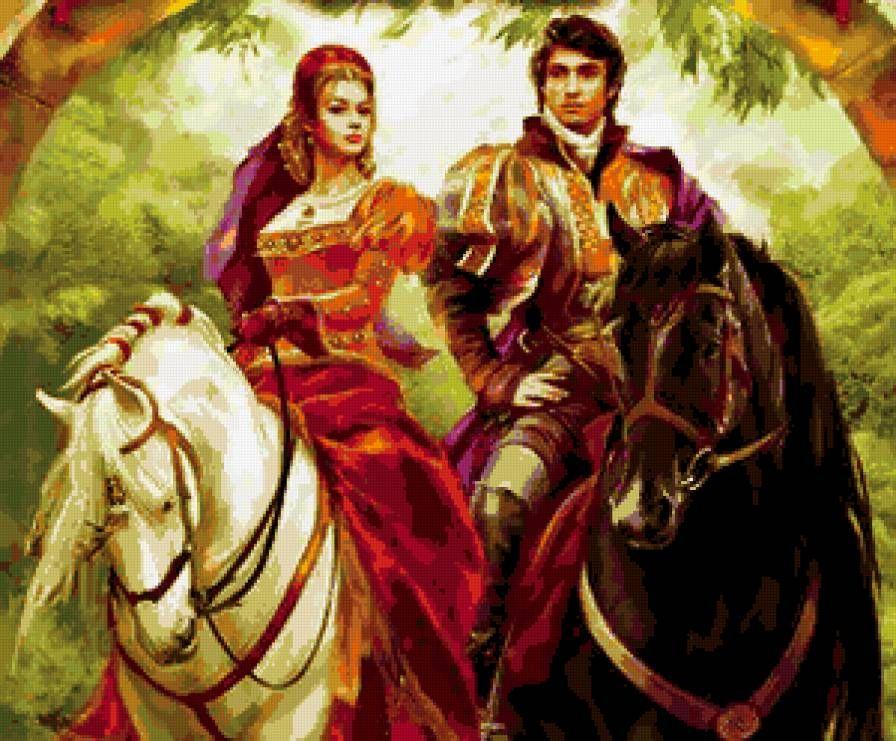 рыцарь и принцесса - Схемы вышивки - allllla2 - Авторы - Портал «Вышивка крестом»