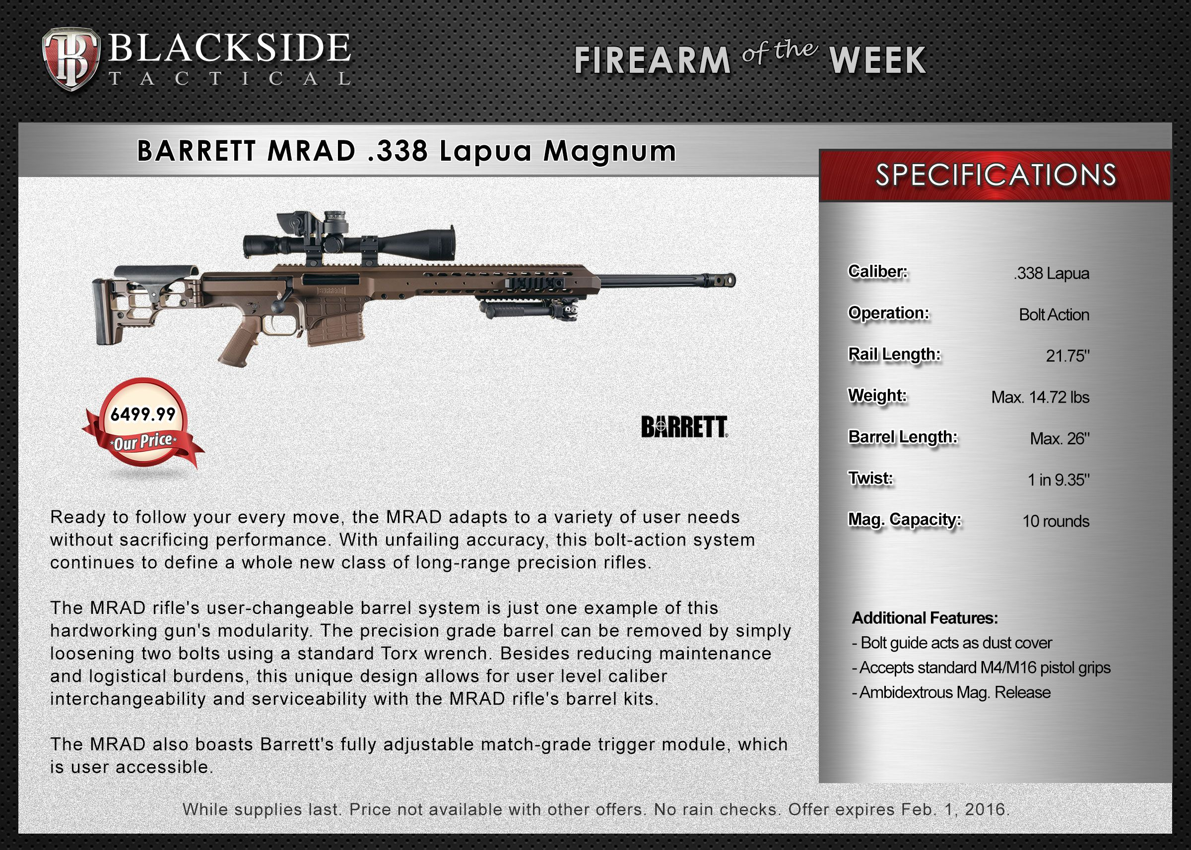 Barrett Mrad  Lapua Magnum  Gun Of The Week HttpsWww