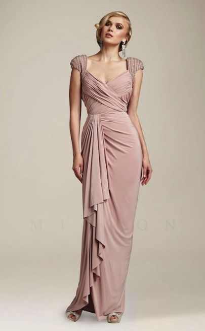7f1d6ab11b3 Blush Pink Old Hollywood Gown