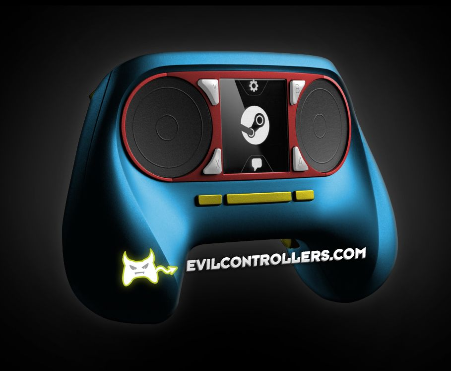 ValveSteamController-Blue #Steamcontroller #steammachine #steamOS #customSteamcontroller #moddedSteamcontroller #customcontrollers #moddedcontrollers