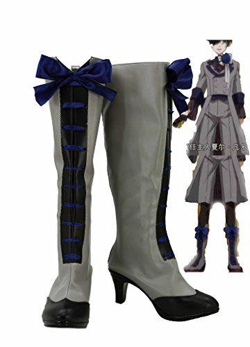 Black Butler 3 Kuroshitsuji Ciel Cosplay Shoes Boots Custom Made 2