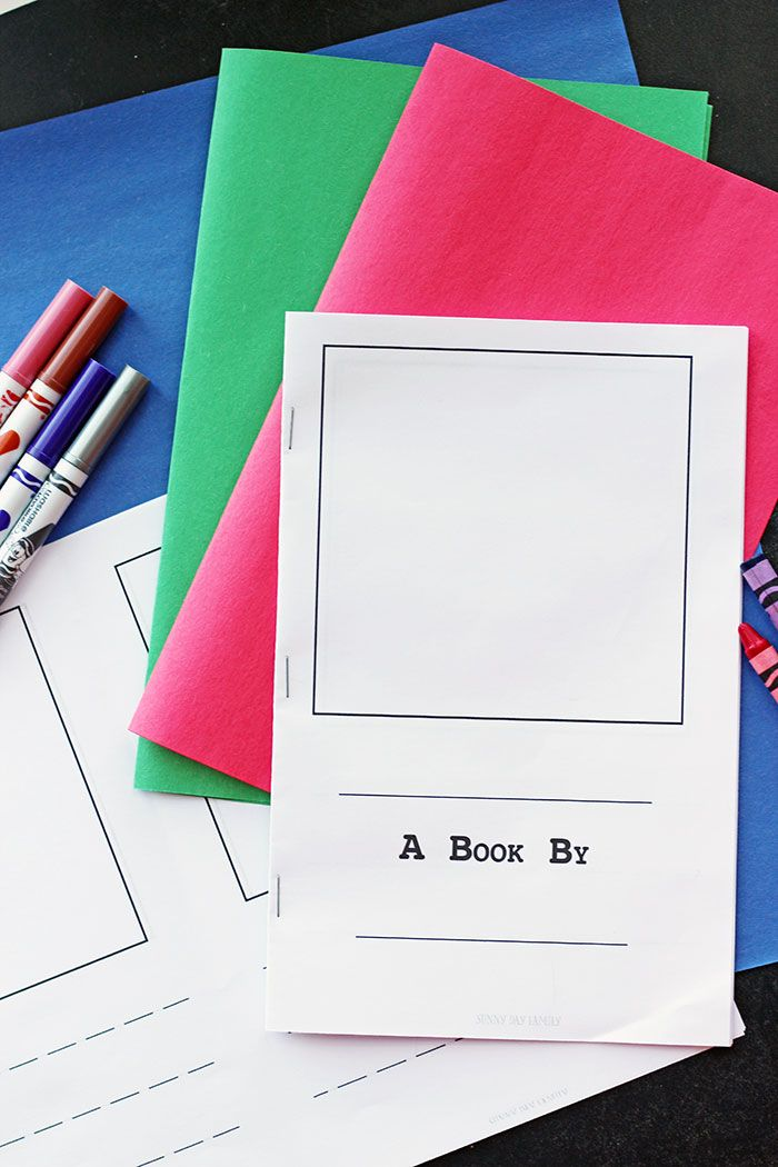 Make Your Own Book For Kids Writing Kids Books Printables Free