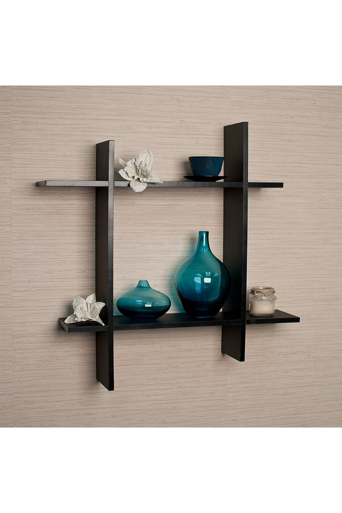 Asymmetric Square Floating Wall Shelf That I Think Could