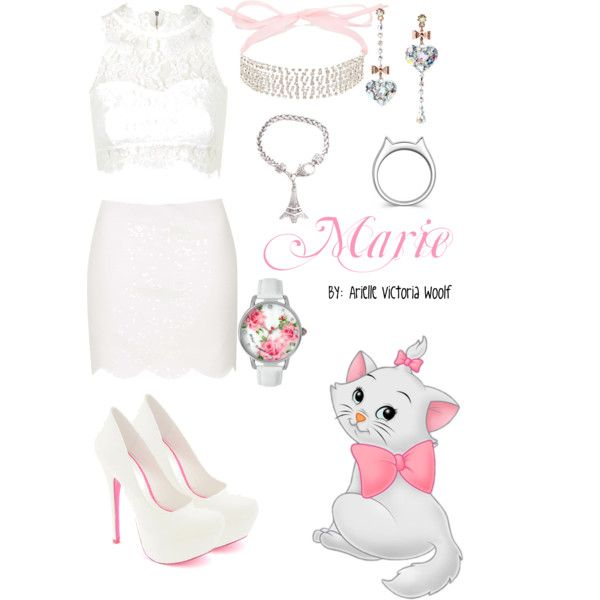 DisneyBound Marie by avwoolf on Polyvore featuring polyvore, fashion, style, Topshop, Betsey Johnson, Johnny Loves Rosie, Disney, disney, disneybound, Marie, disneycharacter and aristcats