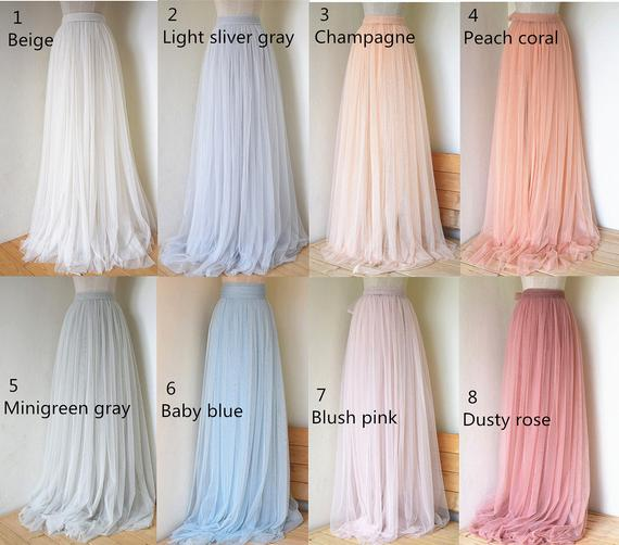 23cfc6754 Custom skirt,Floor length adlut tulle skirt,full length women wedding tulle  skirt,bridal tulle skirt