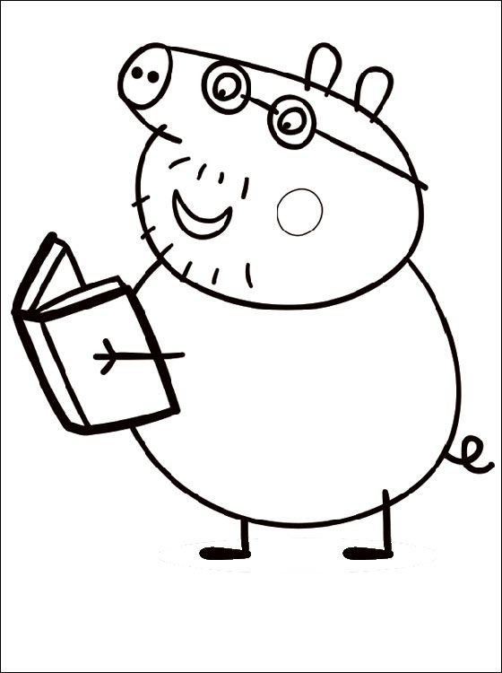 Daddy Pig Coloring Page Pages Stuff to Buy Pinterest