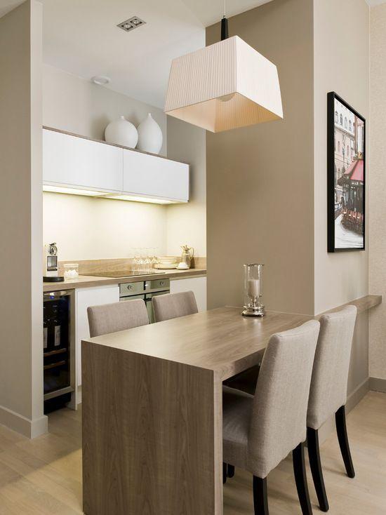 Cozinha Americana Pequena Com Sala 2 Cozinhas Mesa De Jantar