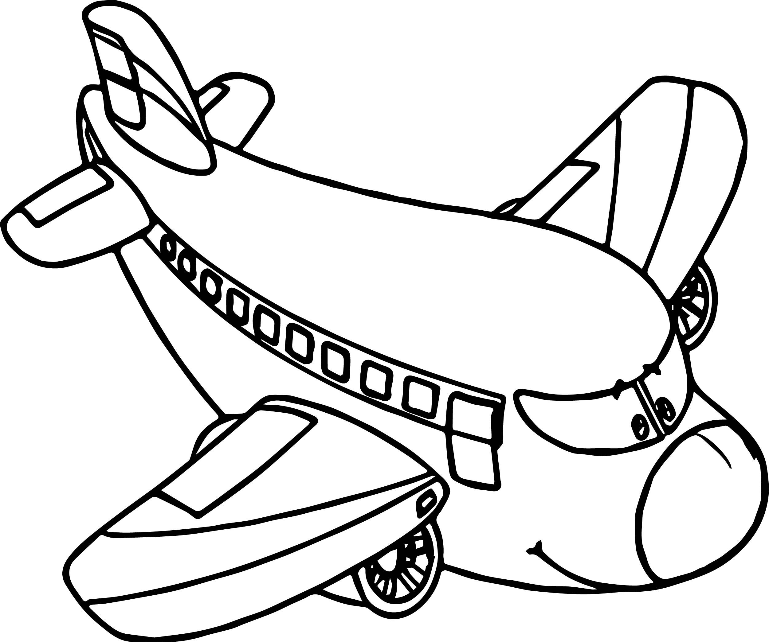 Awesome Airplane Cartoon Coloring Page Airplane Coloring Pages