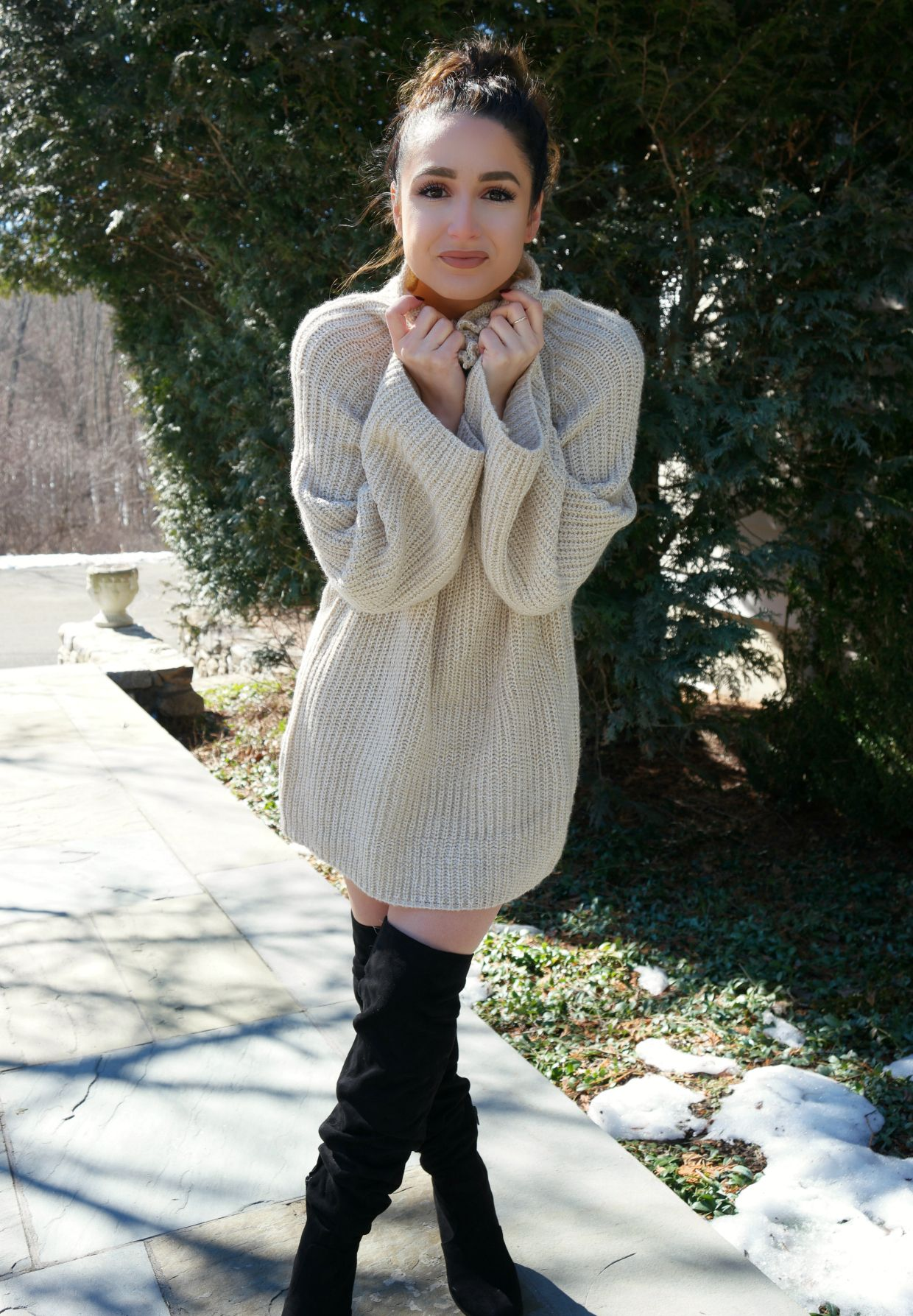 Trying the Trend Oversized Sweater Dress