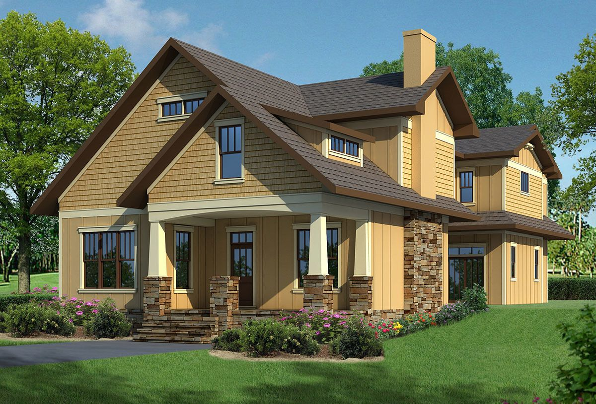 Craftsman House Plan with Loft and Childrenu0027s