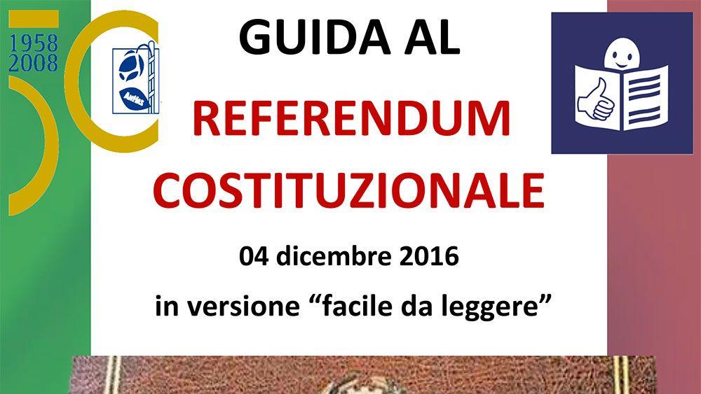 """Anffas Onlus - Referendum: una guida """"facile da leggere e da capire"""" - http://www.canalesicilia.it/anffas-onlus-referendum-guida-facile-leggere-capire/ Anffas Onlus, Referendum Costituzione"""