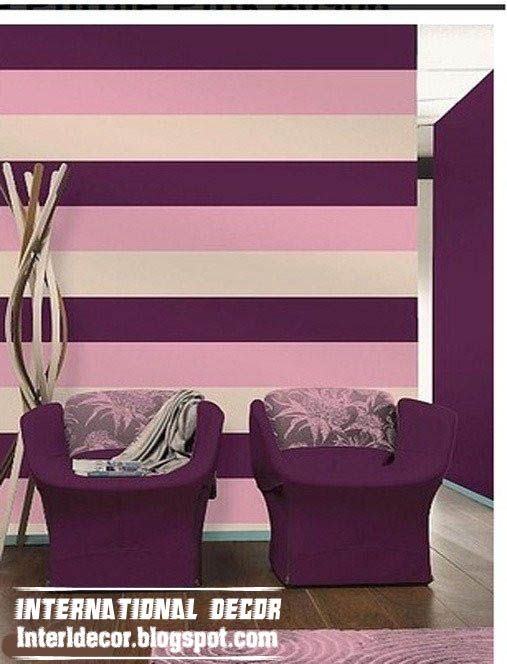 Modern Striped Wall Paints Designs Ideas Colors International Painting Stripes On Walls Paint Colors For Living Room Lime Green Bedrooms Idea striped colorful living room