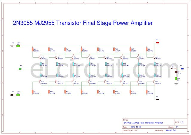 2n3055 mj2955 booster transistor circuit audio schematic 2n3055 and mj2955 about adding 8 set transistor ccuart Gallery
