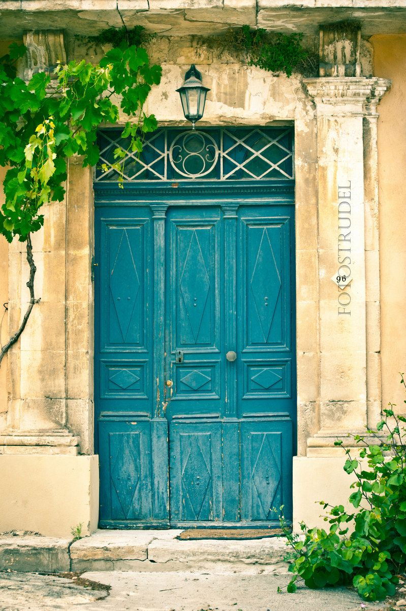Provence French Country France Photograph. The Turquoise Door - Luberon - French Village French Shabby Chic. 8x12 & Provence French Country France Photograph. The Turquoise Door ... Pezcame.Com