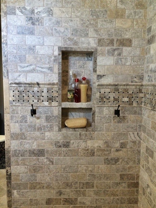 Image Result For Where Do You Hang A Washcloth In A Tiled Shower Travertine Shower Travertine Bathroom Travertine