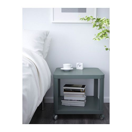 Ikea Tingby Turquoise Side Table On Casters Ikea Side