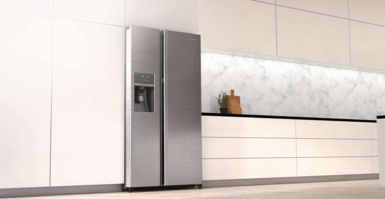 Kuche Mit Side By Side Kuhlschrank Home Ideen Side By Side