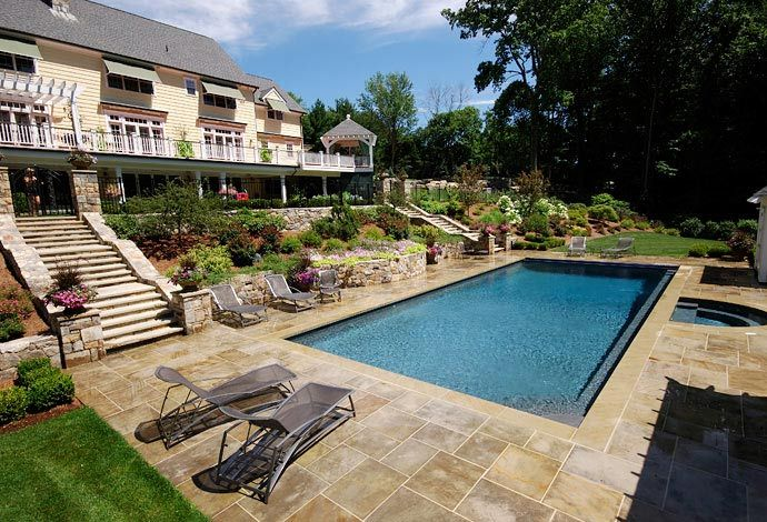 Rectangular Pool Landscape Designs rectangular pool design |  swimming pools westchester county