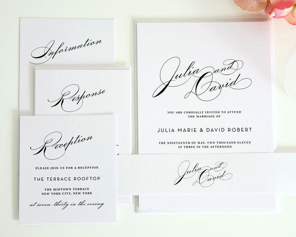 Clean & Classic Invitations