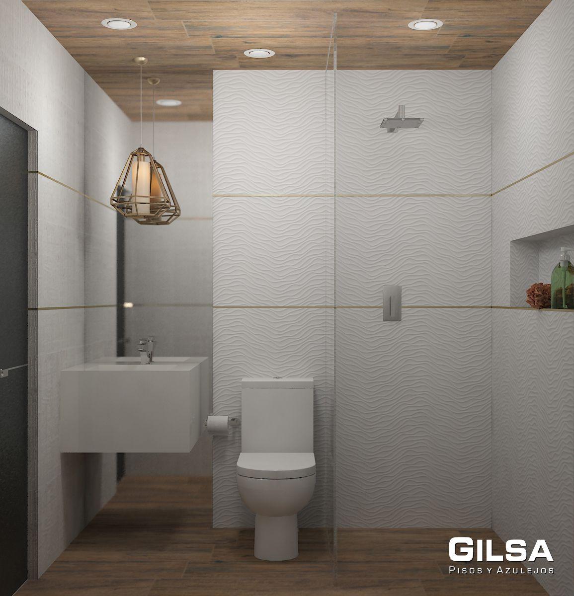 Cuarto de baño de estilo clásico. Materiales utilizados: (En Muro ...