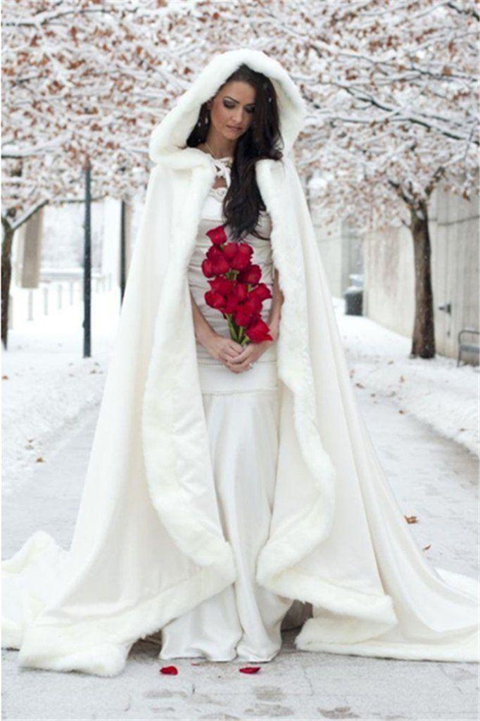 White Hooded Bridal Cape - Danielle Owens - #Bridal #Cape