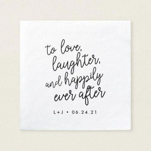 Happily Ever After | Personalized Wedding Napkin | Zazzle ...