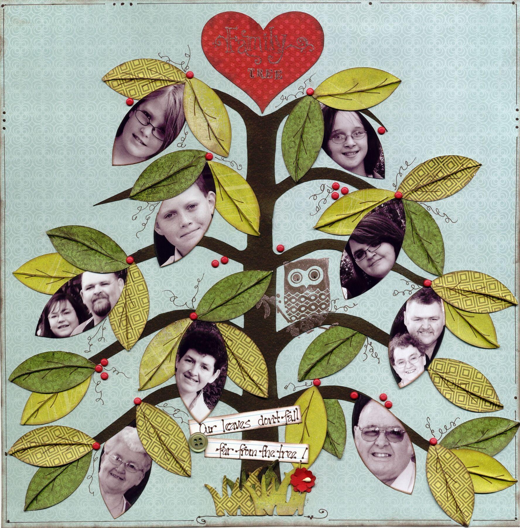 How to scrapbook a family tree - Family Tree Scrapbook Com