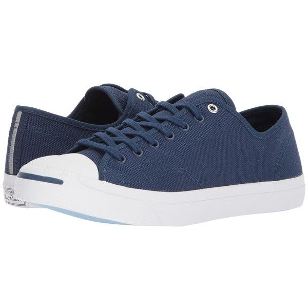 5fe76d28f8ba Converse Jack Purcell(r) Jack Heavy Canvas Ox (Navy Navy White) Shoes ( 75)  ❤ liked on Polyvore featuring shoes