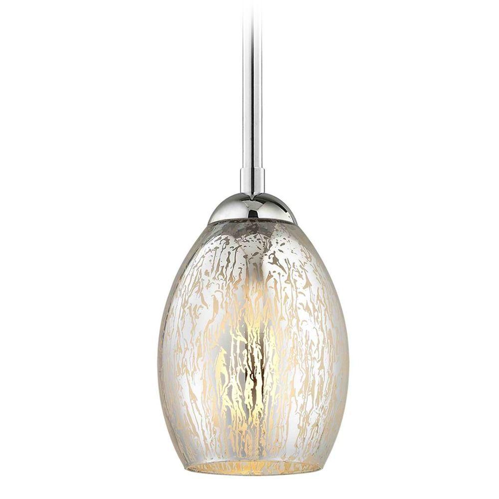 Chrome Mini Pendant Light Mercury Glass Oblong At Destination Lighting Blown Glass Pendant Light Mini Pendant Lights Pendant Light