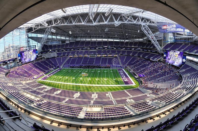 Fisheye View Of Minnesota Vikings Us Bank Stadium In Minneapolis Minneapolis M Affiliate Vikings B Minnesota Vikings Minnesota Vikings Stadium Vikings