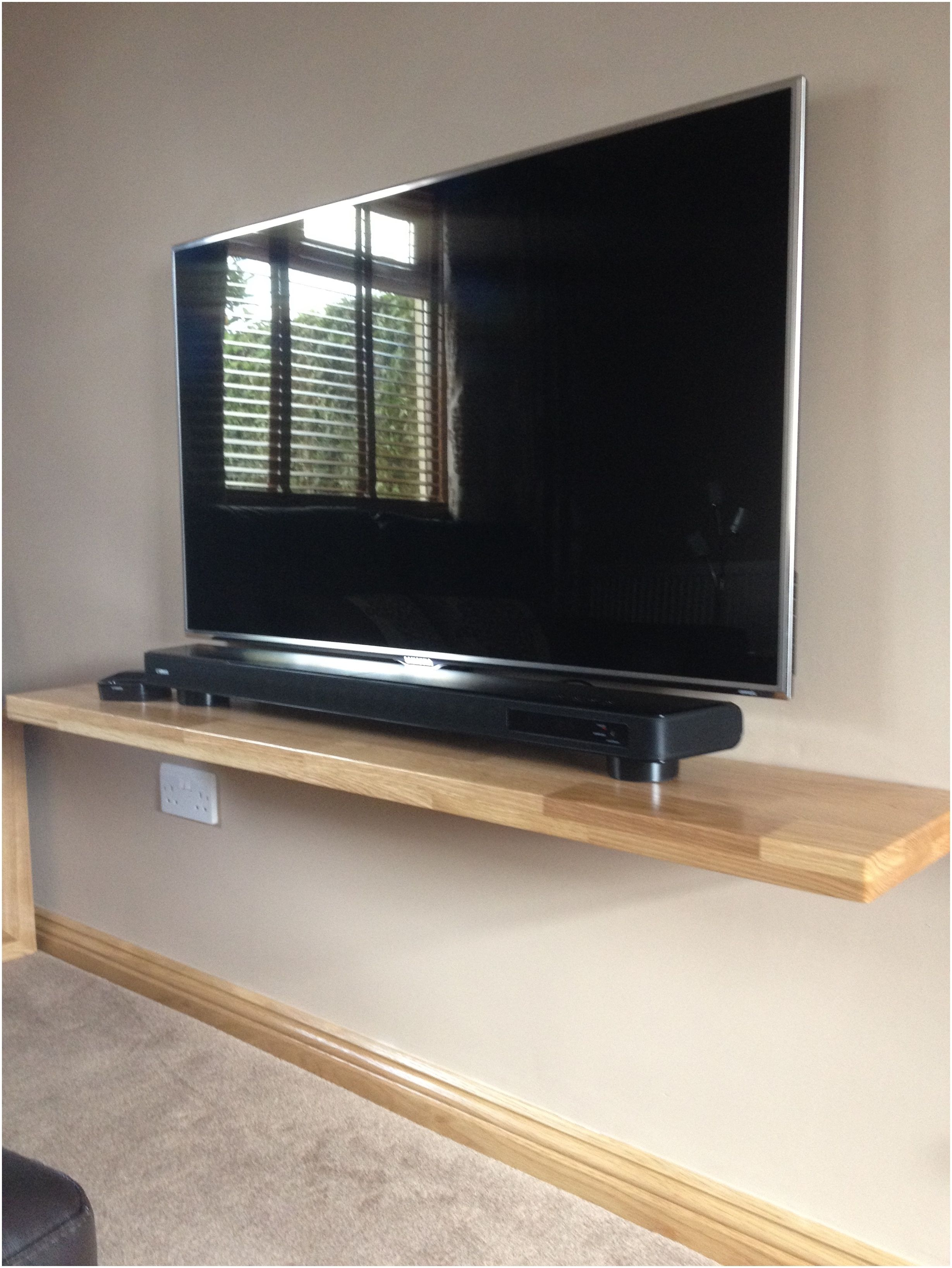 Floating Shelf Under Wall Mounted Tv Http Bottomunion Com  # Meuble Tv Double Face