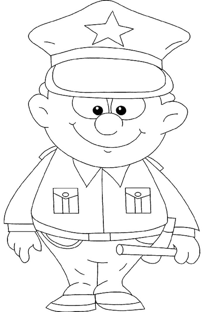 police car coloring pages pdf | Printable Strong Policeman Coloring Pages - Holidays ...